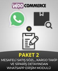 woocommerce mesafeli satış sözleşmesi, kargo eklentisi ve sipariş detayından whatsapp eklentisi